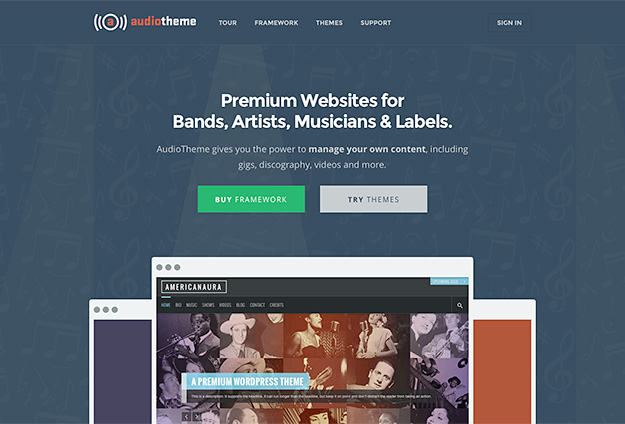 AudioTheme Homepage